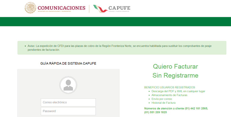 C:\Users\cuantrun\Desktop\Articulos escritos\CAPUFE facturación\CAPUFE facturación paso 1.png